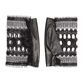 THOMASINE GLOVES - 'Calais' French lace leather panel gloves