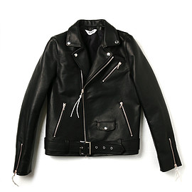 DIGAWEL - LEATHER RIDERS JACKET/Half tannin