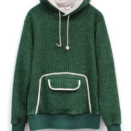.efiLevol - CUT KNIT PARKA-GREEN