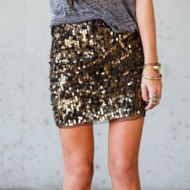sequins and a T