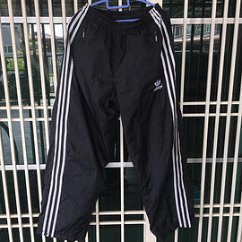 adidas - Vintage 90s Adidas 3 Stripes Embro Trefoil Embroidery Logo Track Pants