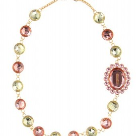 miu miu - PLEXIGLAS CRYSTAL NECKLACE