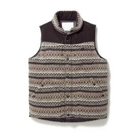 White Mountaineering - WINDSTOPPER JACQUARD KNIT DOWN VEST