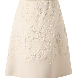 Stella McCartney - Baroque embossed neoprene skirt