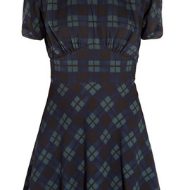 miu miu - Madras plaid crepe dress
