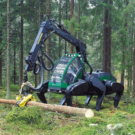 Six-legged Logging Machine Prototype