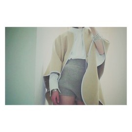 FUMIKA_UCHIDA - rib high waist knit shorts