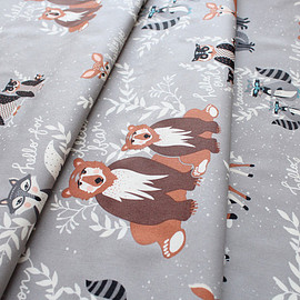 Art Gallery Fabrics - Hello, Bear Oh, Hello Fog