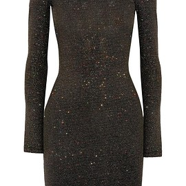 Opening Ceremony - Cleo glittered stretch-jersey mini dress