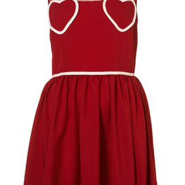 TOPSHOP - Heart Mesh Flippy Dress