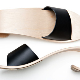 wave shoes made from curving wood by marita design