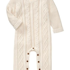GAP baby - Cable-knit one-piece