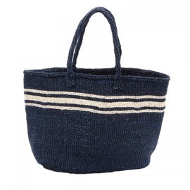 THE CONRAN SHOP - MACHACOS TOTE BAG NAVY WITH NATURAL LINE