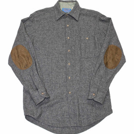 PENDLETON - Vintage Wool Pendleton Button Up Shirt with Elbow Patches Made in USA  Mens Size Small