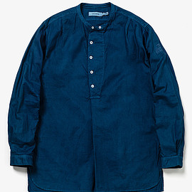 SOPHNET., nonnative - SCIENTIST PULLOVER LONG SHIRT COTTON OXFORD OVERDYED