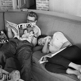 Elizabeth Taylor and James Dean.