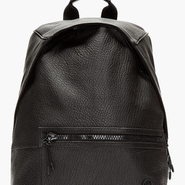 McQ - SS14 MCQ ALEXANDER MCQUEEN Black Grained Leather Backpack