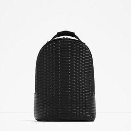 Zara Man - Quilted Black Backpack