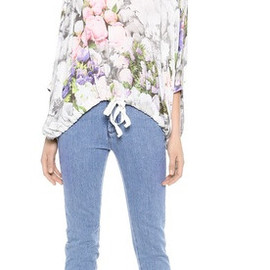 MM6 Maison Martin Margiela - Flower Print Crop Top