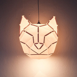 DONKEYANDFRIENDS - Cat Large - do it yourself paper lampshade