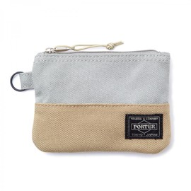 "HEAD PORTER - ""JACKSON"" ZIP WALLET LIGHT GREY"