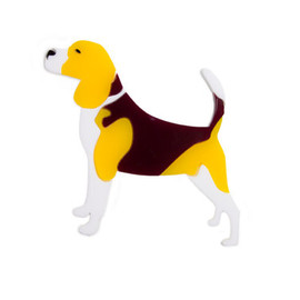 finestimaginary - Beagle brooch dog plastic laser cut