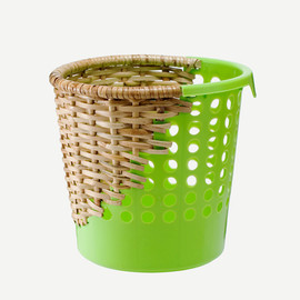 AREAWARE - BOW BIN HALF WEAVE GREEN