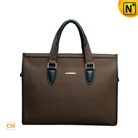 cwmalls - Medium Leather Laptop Briefcase for Men CW914025