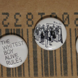 """bubbles - The Whitest Boy Alive """"Rules"""" Button(pin badge) Set"""