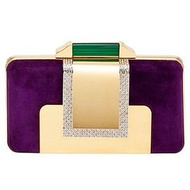 EMILIO PUCCI - Emilio Pucci ,purple & green clutch