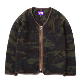 nanamica×THE NORTH FACE - Camouflage Wool Fleece Cardigan