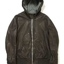A VONTADE - Leather Zip Hoody