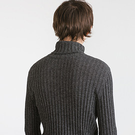 ZARA - Ribbed gray turtleneck
