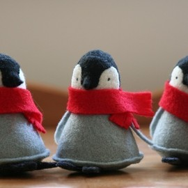 allthingssmall  - penguin with red scarf