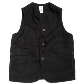 POST OVERALLS - ROYAL TRAVELER WOOL MELTON VEST/navy