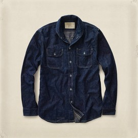 RRL - Shawl-Collar Denim Workshirt