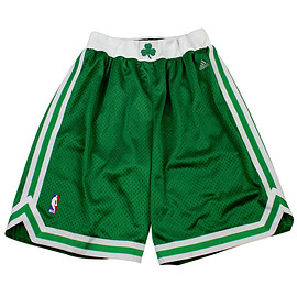 adidas - Adidas Boston Celtics NBA Authentic Basketball Shorts Mens Size Large