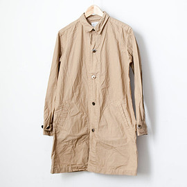 Manual Alphabet - 【Men's&Ladies'】Manual Alphabet / Typewriter shirt coat : beige