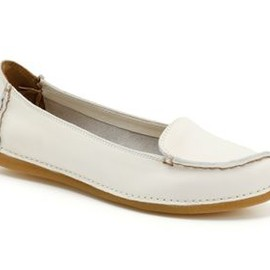 Clarks - Clarks Lugger Pump (White Leather)