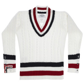THOM BROWNE - Cableknit Sweater