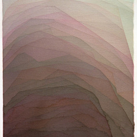 Alex Diamond - Two edged mud climb, 2012, watercolor on paper