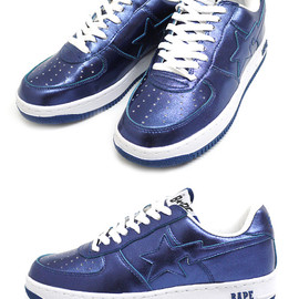 A BATHING APE - A BATHING APE(エイプ) BAPESTA FOIL【新品】BLUE 291-000798-294 191-002947-294