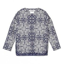 White Mountaineering - BANDANNA PATTERN PRINTED PULLOVER SHIRT