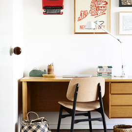 Graphic designers', Suzy and Shane's Melbourne workspace.