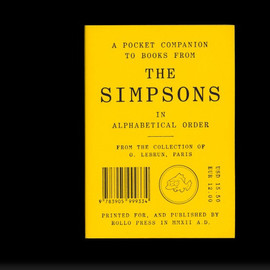 A POCKET COMPANION TO BOOKS FROM THE SIMPSONS IN ALPHABETICAL ORDER