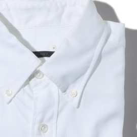 SOPHNET. - L/S B.D SHIRT COTTON ROYAL OXFORD (WHITE)