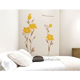 wallstickerdeal - I'll Love You Forever Flower Wall Decals