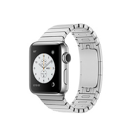 Apple - Apple Watch Series 2/Stainless Steel Case with Link Bracelet