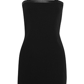 Versus Versace - Leather-trimmed stretch-jersey mini dress