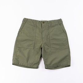 Engineered Garments - Olive Cotton Ripstop Fatigue Short